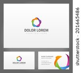 business card design and... | Shutterstock .eps vector #201665486