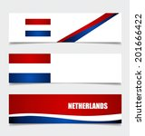 netherlands  flags concept... | Shutterstock .eps vector #201666422