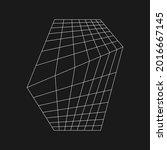 retrofuturistic perspective...   Shutterstock .eps vector #2016667145