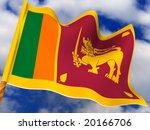 Flag. Sri Lanka.  3d