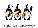 halloween scary gnomes.... | Shutterstock .eps vector #2016691922