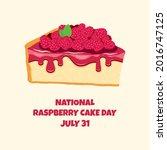 national raspberry cake day...   Shutterstock .eps vector #2016747125