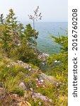 Siberian Baikal Lake On Sunny...