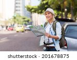 tourist standing on the... | Shutterstock . vector #201678875