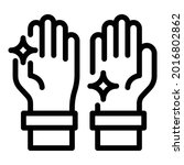 shiny clean hands icon. outline ...   Shutterstock .eps vector #2016802862