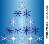 winter snowflake pyramid... | Shutterstock .eps vector #20168056
