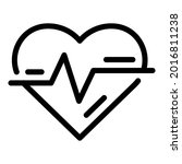 heartbeat icon. outline...   Shutterstock .eps vector #2016811238