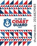 u.s. coast guard day in united...   Shutterstock .eps vector #2016829085