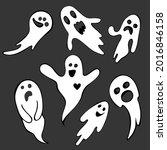 spooky halloween ghost. a... | Shutterstock .eps vector #2016846158