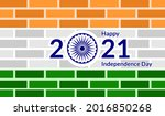 happy independence day 2021...   Shutterstock .eps vector #2016850268