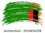 zambia flag in grunge brush...   Shutterstock .eps vector #2016856358