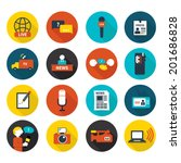 set of vector journalism icons. ... | Shutterstock .eps vector #201686828