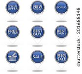 shop button set on white... | Shutterstock . vector #201688148