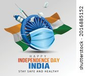 happy independence day india...   Shutterstock .eps vector #2016885152