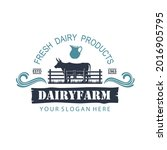 label of dairy farm with animal ...   Shutterstock .eps vector #2016905795