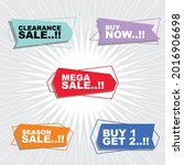 vector sale badges. mega sale...   Shutterstock .eps vector #2016906698