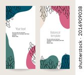 a set of botanical stretched... | Shutterstock .eps vector #2016909038