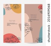 a set of botanical stretched... | Shutterstock .eps vector #2016909068