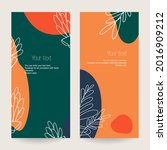 a set of botanical stretched... | Shutterstock .eps vector #2016909212