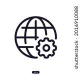 globe_settings icon. search...   Shutterstock .eps vector #2016910088