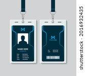 flat id card template design    Shutterstock .eps vector #2016932435