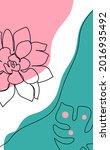 minimal botanical art concept....   Shutterstock .eps vector #2016935492