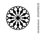 geometric circular ball pattern.... | Shutterstock .eps vector #2016938132
