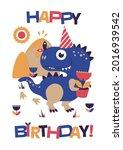 happy birthday greeting card... | Shutterstock .eps vector #2016939542