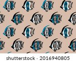 seamless sea pattern spotted...   Shutterstock .eps vector #2016940805