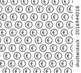 pattern from euro signs color...   Shutterstock .eps vector #2016944018