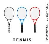 set racket tennis icon symbol...   Shutterstock .eps vector #2016947312