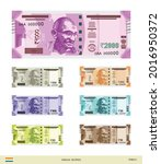 new indian currency in vector.   Shutterstock .eps vector #2016950372