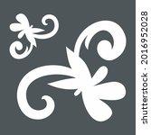 floral swirl ornamental...   Shutterstock .eps vector #2016952028