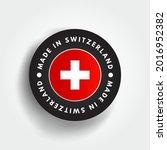 made in switzerland text emblem ...   Shutterstock .eps vector #2016952382