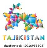 tajikistan   colorful low poly...   Shutterstock .eps vector #2016955805