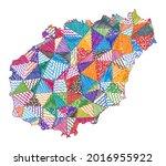 kid style map of hainan. hand...   Shutterstock .eps vector #2016955922