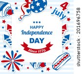 4th july stickers background | Shutterstock .eps vector #201696758