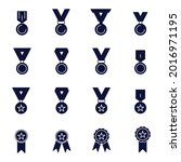 medal icon set. medal icon pack ...   Shutterstock .eps vector #2016971195
