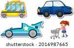 random stickers with... | Shutterstock .eps vector #2016987665