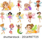 set of stickers with beautiful... | Shutterstock .eps vector #2016987725