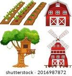 farm element set isolated on... | Shutterstock .eps vector #2016987872