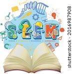 stem education logo with opened ... | Shutterstock .eps vector #2016987908