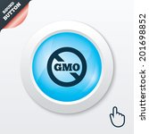 no gmo sign icon. without...