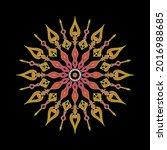 multicolored mandala ornament... | Shutterstock .eps vector #2016988685