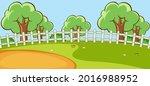empty park landscape scene with ... | Shutterstock .eps vector #2016988952