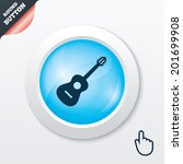 acoustic guitar sign icon....