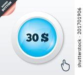 30 dollars sign icon. usd...