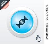 dna sign icon. deoxyribonucleic ...