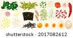 food illustrations  toppings ...   Shutterstock .eps vector #2017082612
