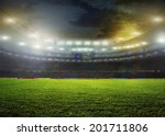 stadium with fans the night... | Shutterstock . vector #201711806